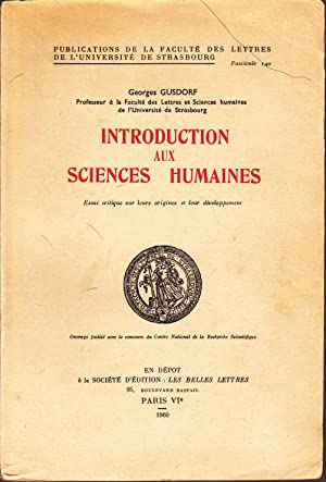 Introduction aux sciences humaines