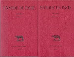 Lettres. ( 2 VOLUMES ): ENNODE DE PAVIE