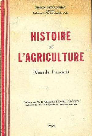 Histoire de l'agriculture (Canada français): LÉTOURNEAU, Firmin