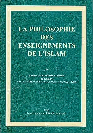 La philosophie des enseignements de l'Islam: DE QADIAN, Hadhrat