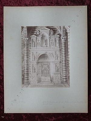 Sienne -le dôme, autel Piccolomini.: PHOTOGRAPHIE ANCIENNE] LOMBARDI Paolo