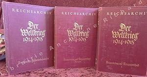 """Der Weltkrieg 1914 bis 1918. Bearbeitet im Reichsarchiv. Band I - XII. - """"Das deutsche ..."""
