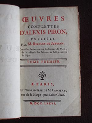 Oeuvres complètes d'Alexis Piron - T.1 2 3 4 5 6 7