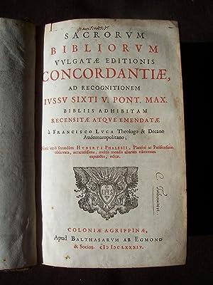 Sacrorum bibliorum vulgatae editionis concordantiae, ad recognitionem
