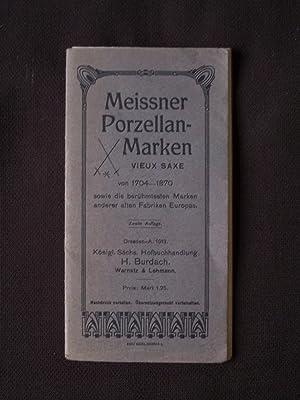 Meissner porzellan-marken vieux saxe von 1704-1870
