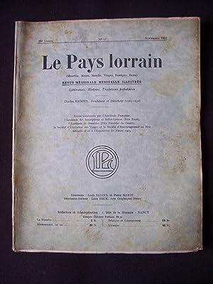 Le pays lorrain - N°11 1933