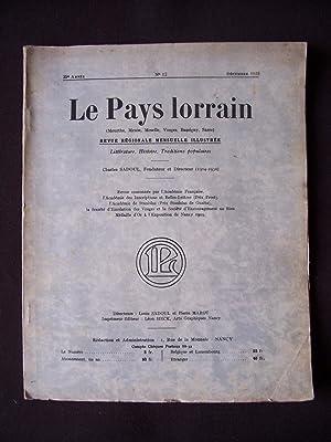 Le pays lorrain - N°12 1933
