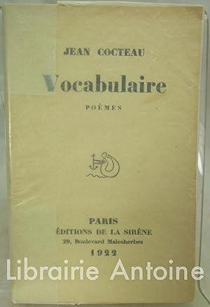 Vocabulaire. Poèmes.: Cocteau (Jean).