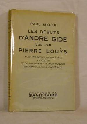 Les débuts d'André Gide vus par Pierre: ISELER Paul