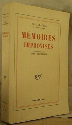 MEMOIRES IMPROVISES, recueillis par Jean Amrouche: CLAUDEL Paul