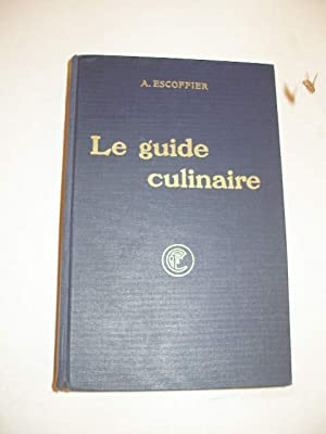 le guide culinaire by escoffier abebooks. Black Bedroom Furniture Sets. Home Design Ideas