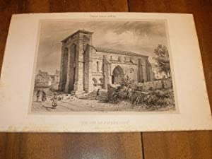 CANTAL : EGLISE DE PIERREFORT UNE LITHOGRAPHIE SUR CHINE