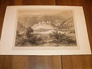 CANTAL : YDES CHATEAU DE MADICK ( MADIC ) , UNE LITHOGRAPHIE SUR CHINE