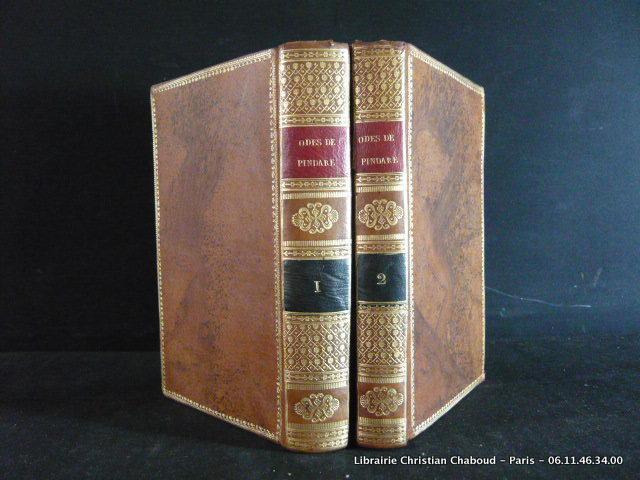 Traduction complète des Odes de Pindare, en regad du texte grec, avec des notes à la fin de chaque Ode, par R. Tourlet. 2 volumes, complet Pindare