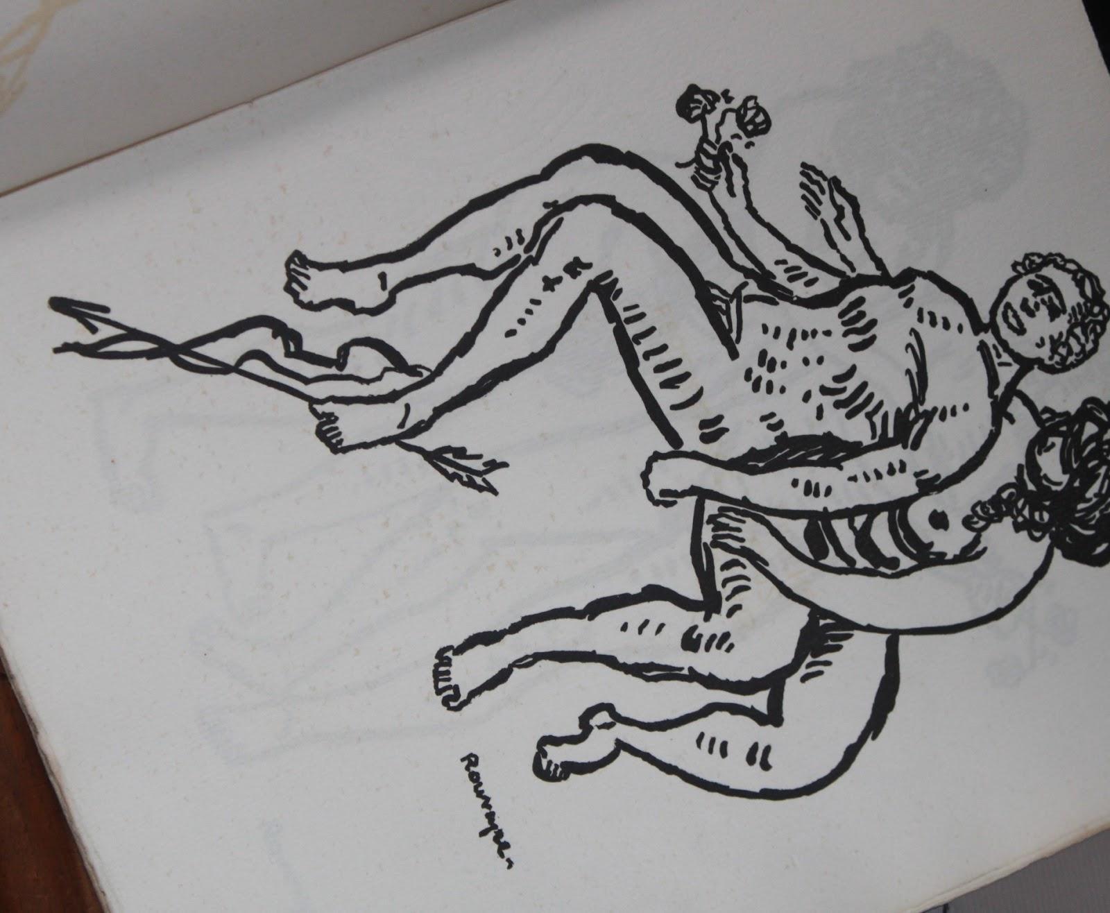Dessins de rouveyre mort de l 39 amour avec en appendice une prose de jean mor as par andr - Dessin de l amour ...