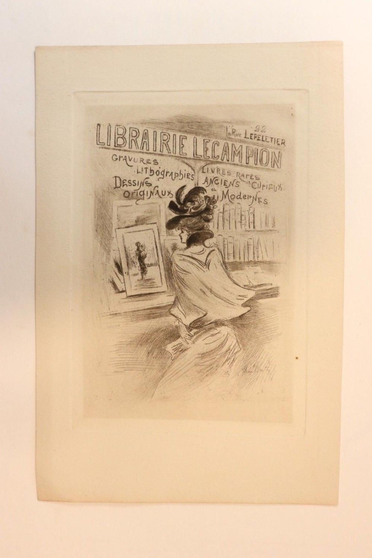 Carte De Visite Illustree Librairie Lecampion Henri Boutet