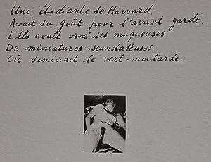 Une étudiante à Harvard, lithographie signée Roland Topor. Rare épreuve...