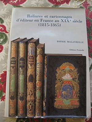 Reliures et cartonnages d'éditeur en France au: Sophie Malavieille