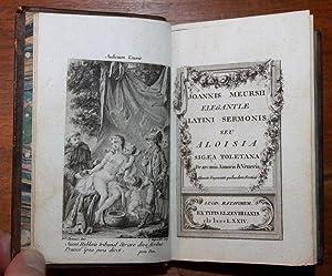 JOANNIS MEURSII ELEGANTIAE LATINI SERMONIS SEU ALOISIA: CHORIER, Nicolas.