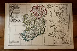 1765 1770 Map Carte géographique Atlas Irlande Ireland