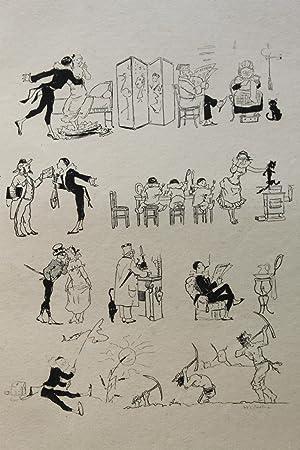 Estampe originale gravure sur cuivre Pauvre Pierrot: Adolphe Willette
