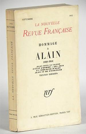 Hommage à Alain, 1868-1951. Alain dans sa: ALAIN) (Collectif dont