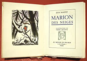 [LECONTE (P.)]. Marion des Neiges. Illustrations de Pierre Leconte.