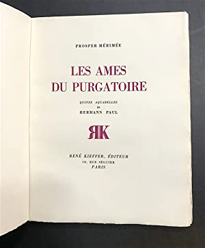 [HERMANN-PAUL]. Les Ames du purgatoire. Quinze aquarelles de Hermann Paul.