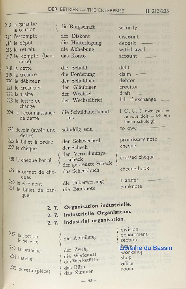 Vocabulaire Technique Trilingue Francais Anglais Allemand By