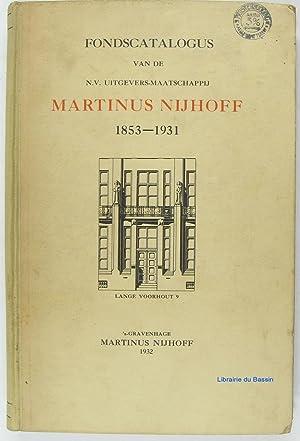 Fondscatalogus van de N.V. Uitgevers-Maatschappij Martinus Nijhoff: Collectif