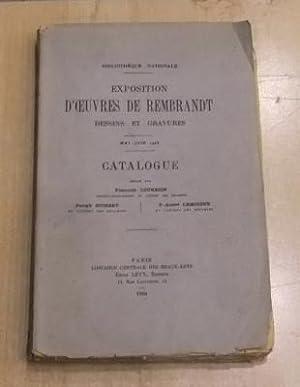 Bibliothèque Nationale Exposition d'oeuvres de Rembrandt dessins: François Courboin Joseph