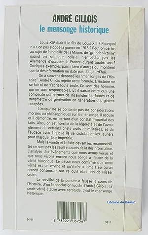 Le mensonge historique: André Gillois