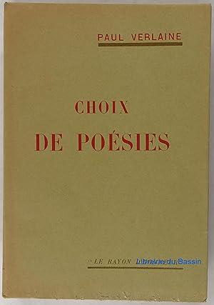 Choix de Poésie: Paul Verlaine