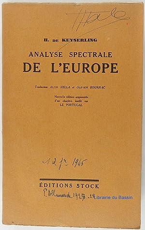Analyse spectrale de l'Europe: H. de Keyserling