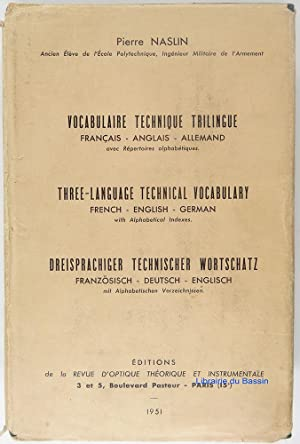 Vocabulaire technique trilingue Français - anglais - allemand
