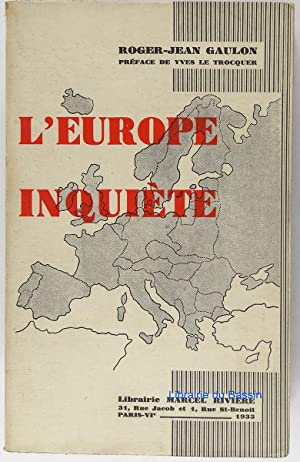L'Europe inquiète