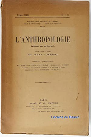 L'anthropologie n°1-2