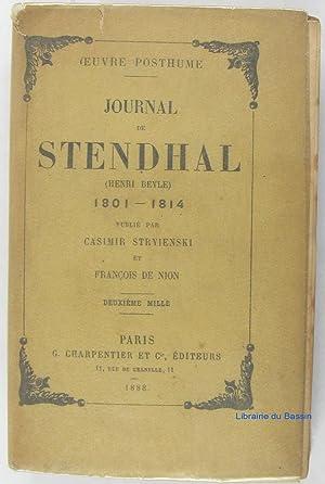 Oeuvre posthume Journal de Stendhal (Henri Beyle): Stendhal