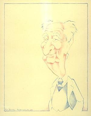 Portrait de Gaston Defferre.: WIAZ [Pierre Wiazemski],