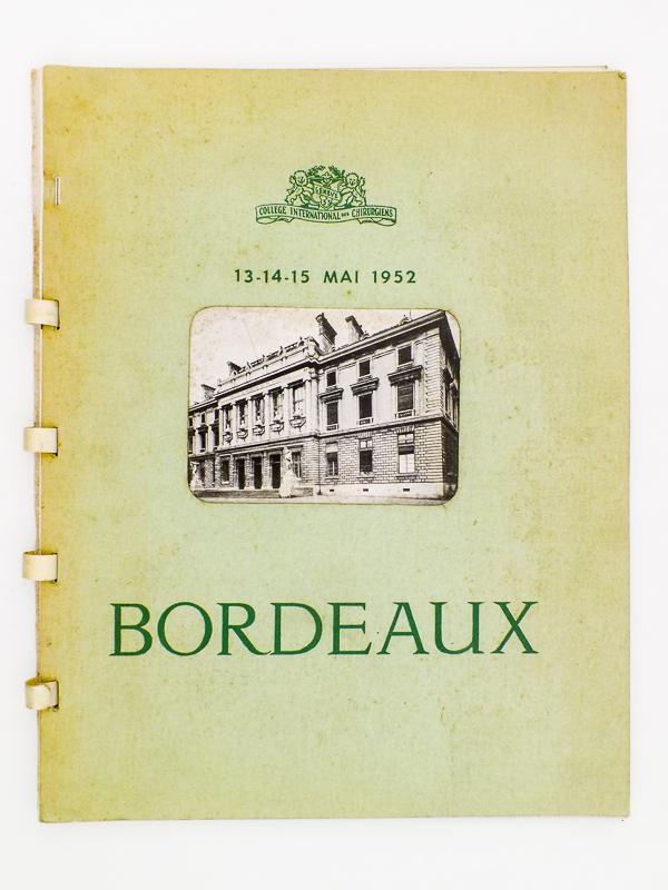 bordeaux 13 14 15 mai 1952 plaquette touristique dit e pour la r union bordeaux du. Black Bedroom Furniture Sets. Home Design Ideas