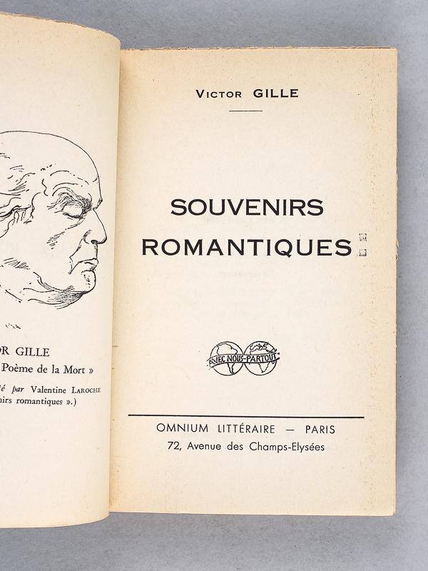 Souvenirs Romantiques De Gille Victor Omnium Littéraire