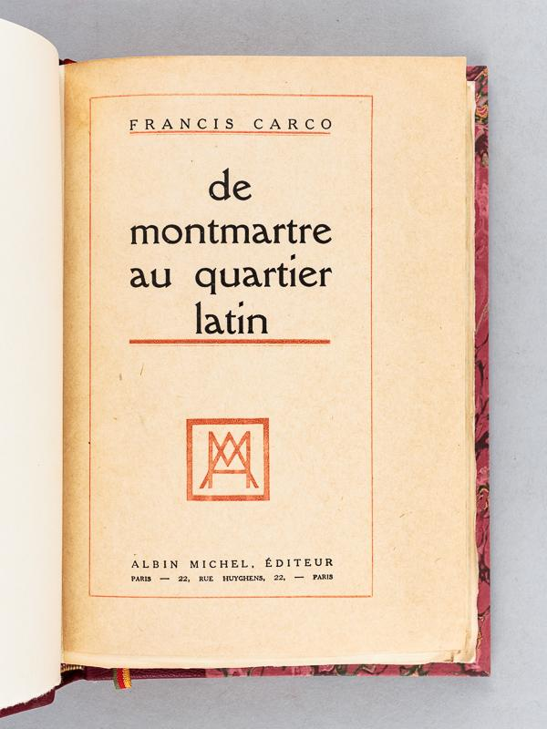 De Montmartre au Quartier Latin (French Edition)