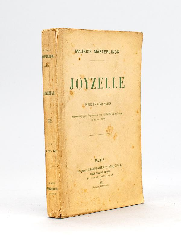 Joyzelle_Pièce_en_cinq_actes__Edition_originale__Livre_dédicacé_par_lauteur__MAETERLINCK_Maurice___Couverture_souple