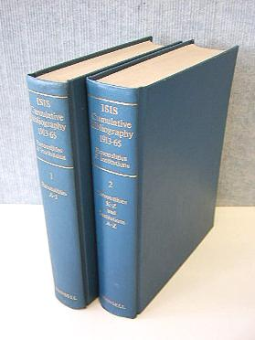 ISIS cumulative bibliography. A bibliography of the History of Science formed from ISIS Critical ...