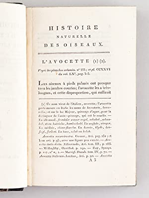 Histoire Naturelle des Oiseaux, par Leclerc de Buffon. Tome Vingt-Cinquième [ Tome 25 seul ]...
