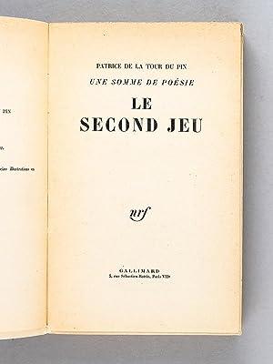 Le Second Jeu - Une somme de Poésie II [ Livre dédicacé par l'auteur &...