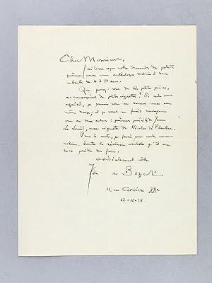 Lettre autographe signée datée du 23 décembre 1936 [ adressée à ...