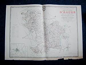 Carte du Canton d'Eauze (Atlas Général du Gers): PHIQUEPAL D'ARUSMONT ; DELATTE,...