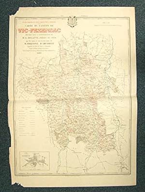 Carte du Canton de Vic-Fezensac (Atlas Général du Gers): PHIQUEPAL D'ARUSMONT ; ...