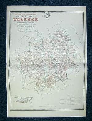 Carte du Canton de Valence (Atlas Général du Gers): PHIQUEPAL D'ARUSMONT ; MONOD, ...